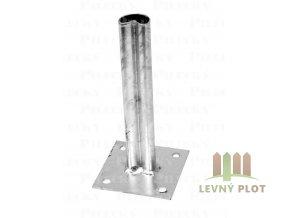 Patka s plotnou ke sloupku 48 mm Zn, PILCLIP