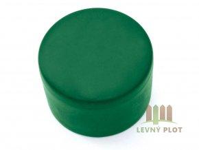Klobouček sloupkový 76 mm zelená