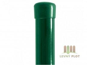 Sloupek Ideal Zn+PVC 48x1,5xrůzné délky, čepička,  zelený