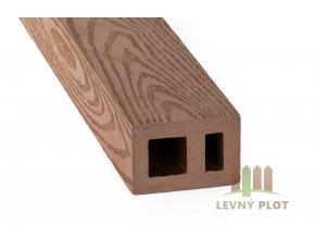DAMIWPC hranol 60x40x různé délky mm, tmavé dřevo broušené