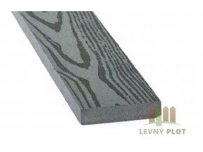 DAMIWPC plotovka 70x15x4030 mm, šedé dřevo broušené