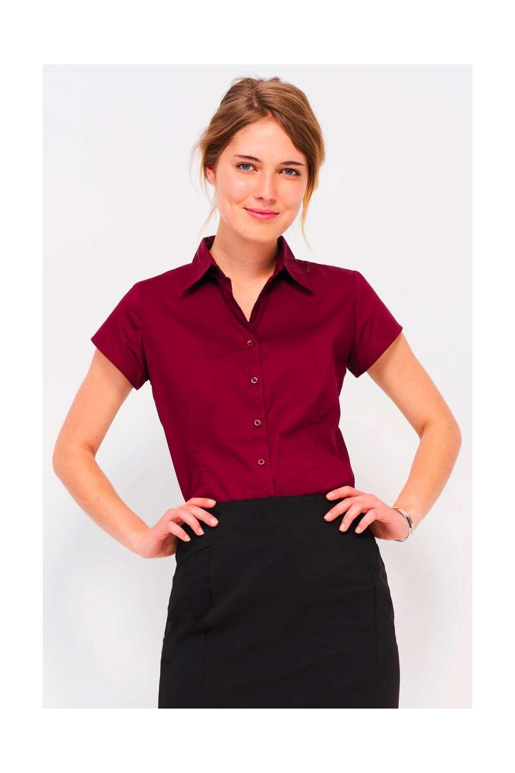 Dámská košile s krátkými rukávy a elastanem