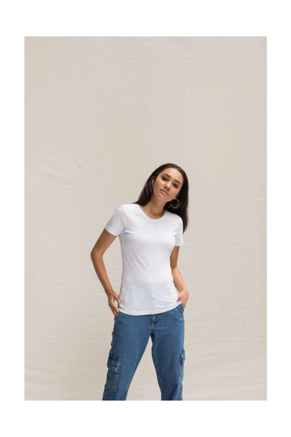 Dámské bavlněné tričko SLUB Just Ts