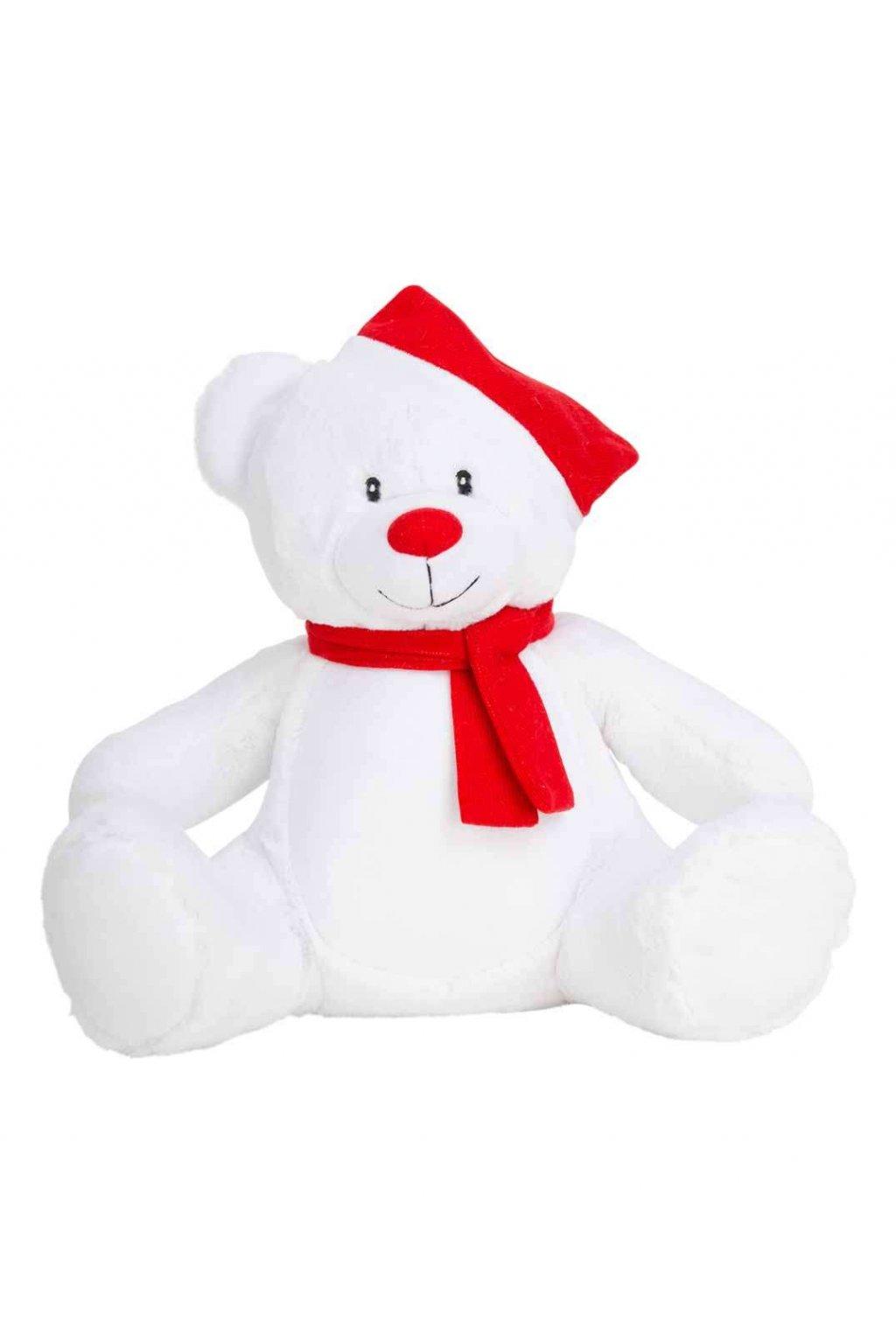 Bílý medvídek s úkrytem v bříšku ZIPPIE