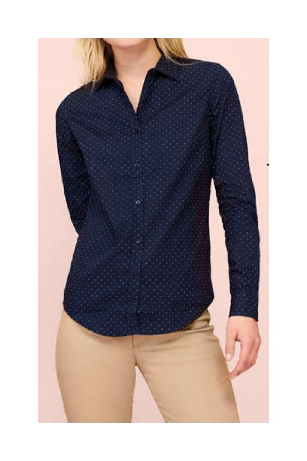 Dámská bavlněná košile s puntíkyBECKER
