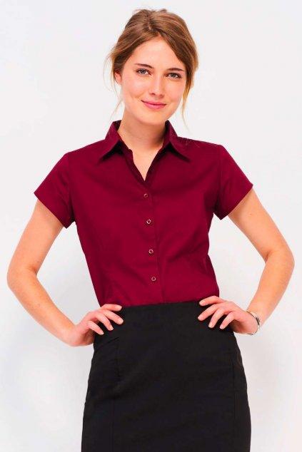 Dámská košile s krátkými rukávy a elastanem Sol's
