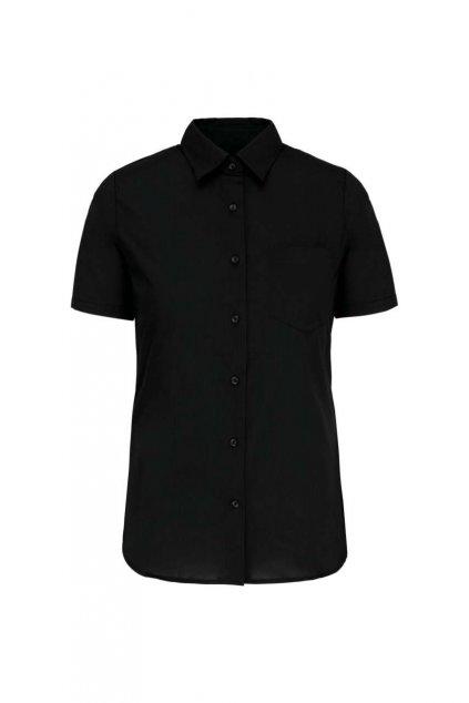 Dámská popelínová košile s krátkým rukávem Kariban