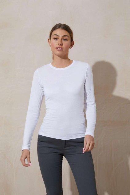 Dámské stylové tričko s dlouhým rukávem TRI-BLEND
