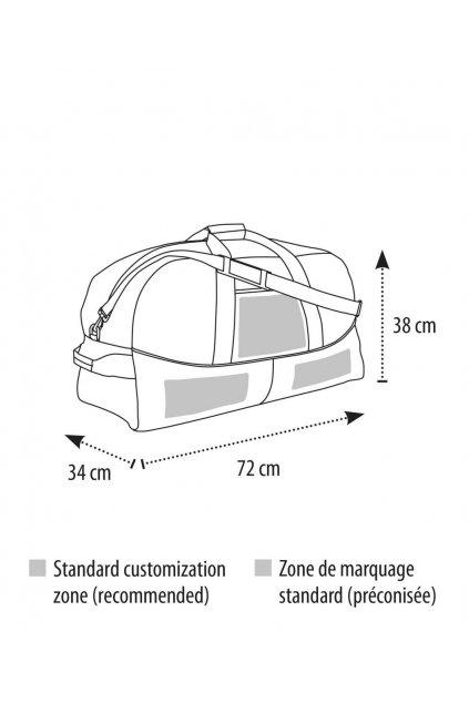 Cestovní dvoubarevná taška STADIUM 72