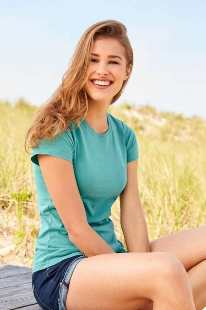 Dámské bavlněné tričko FITTED Comfort Colors