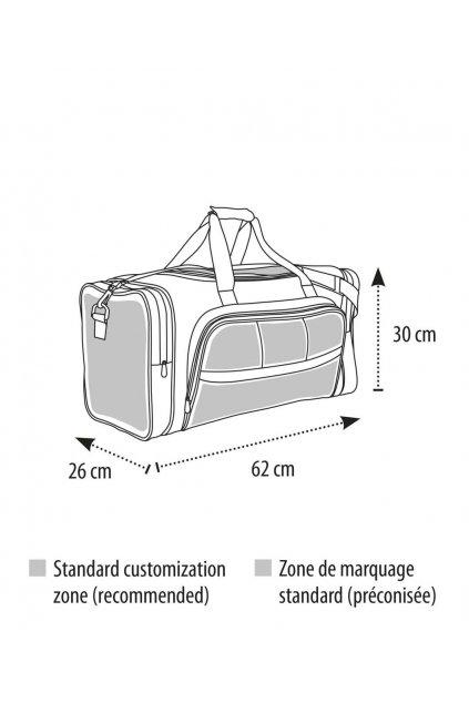 Sportovní taška s kapsami WEEK-END
