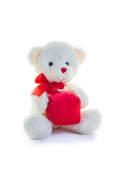 Bílý plyšový medvídek