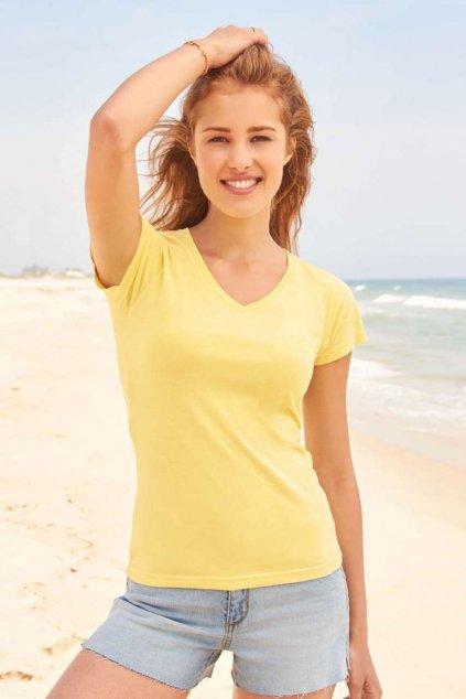 Dámské tričko s V výstřihem COMFORT COLORS