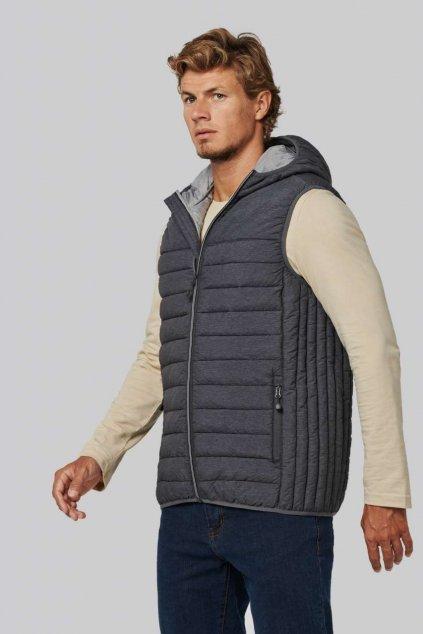 Pánská vesta s kapucí