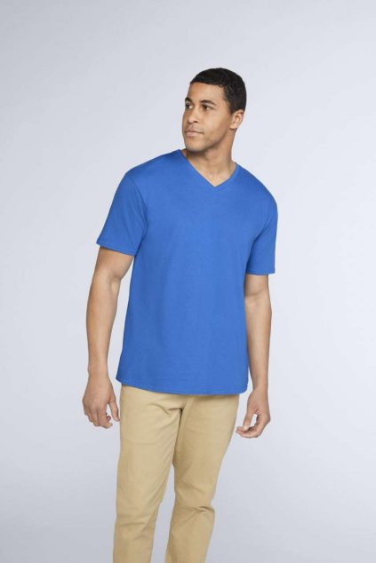 Unisex bavlněné tričko do V PREMIUM