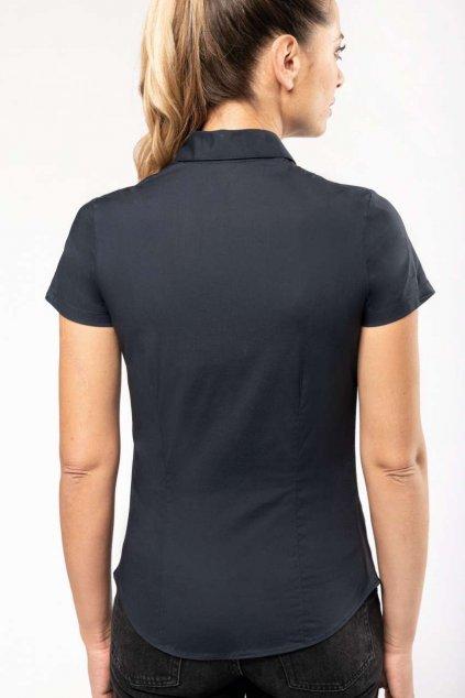Dámská košile s krátkým rukávem a elastanem KARIBAN