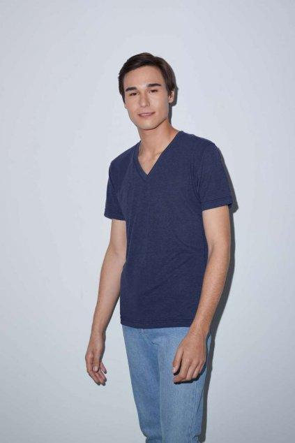 Unisex tričko do V TRI-BLEND American Apparel