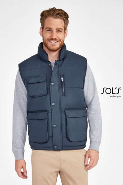 Pánská prošívaná vesta s kapsami VIPER
