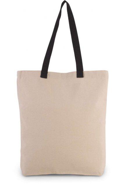 Nákupní taška s kontrastními uchy GUSSET