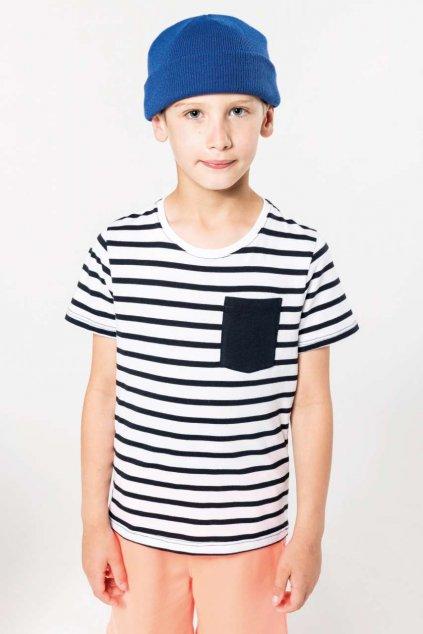 Dětské námořnické tričko s krátkým rukávem Kariban
