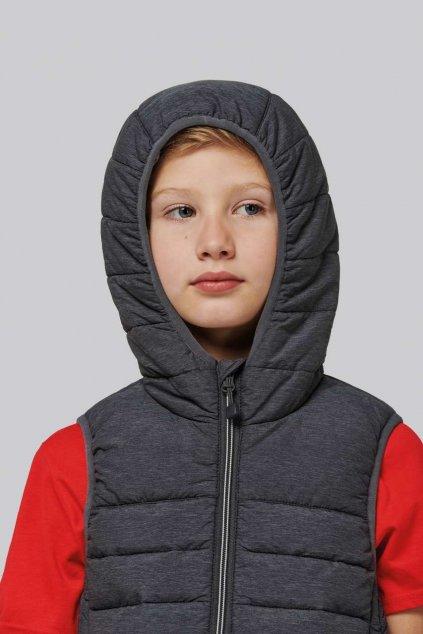 Dětská zateplená vesta HOODED
