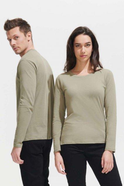 Pánské bavlněné tričko s dlouhými rukávyMONARCH