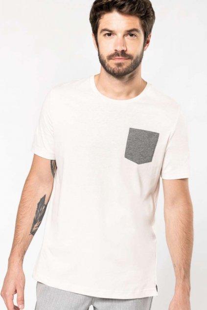 Pánské tričko s náprsní kapsou z BIO bavlny Kariban