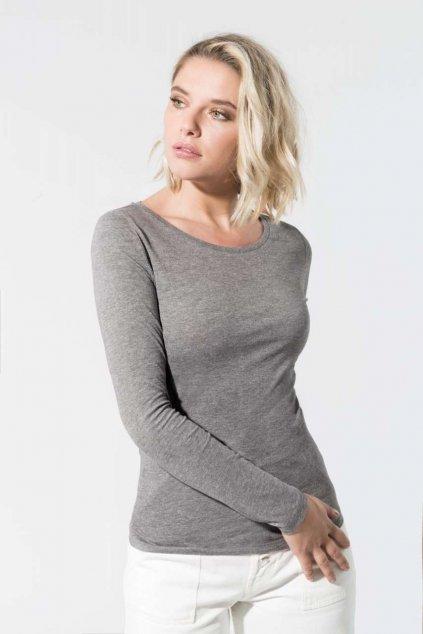 Dámské tričko s dlouhými rukávy z BIO bavlny Kariban