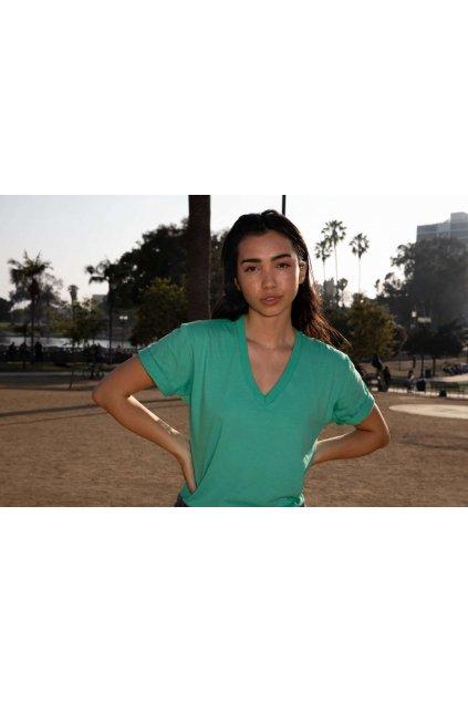 Unisex bavlněné tričko do V American Apparel