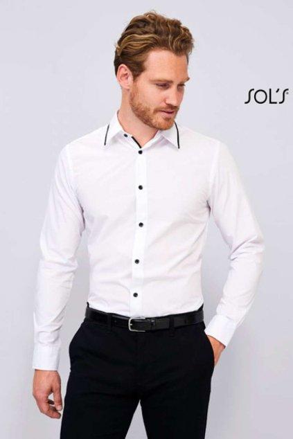 Pánská popelínová košileBAXTER