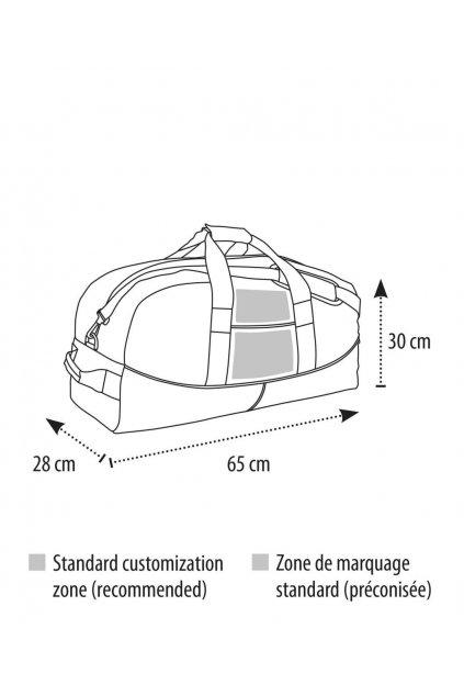 Cestovní dvoubarevná taška STADIUM 65