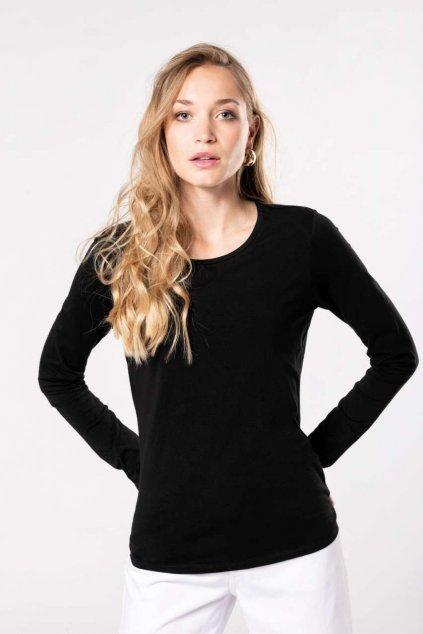 Dámské tričko s elastanem a dlouhým rukávem Kariban