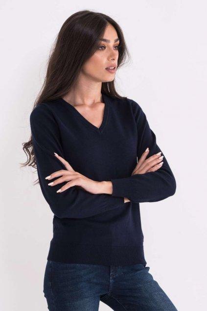 Dámský bavlněný svetr do V