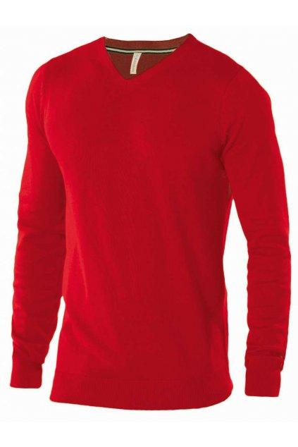Pánský bavlněný svetr do V Kariban