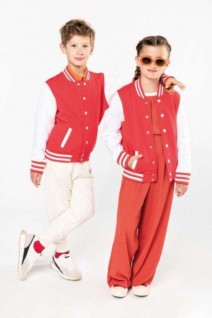 Dětská kontrastní fleecová mikina TEDDY