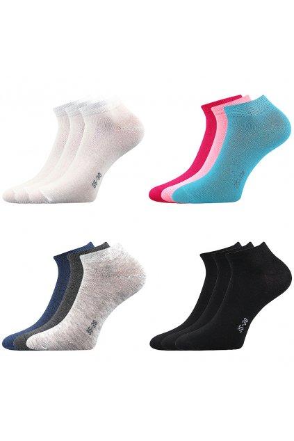 Unisex kotníkové ponožky Hoho - 3 páry