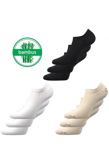 Neviditelné bambusové ponožky Dexi - 3 páry