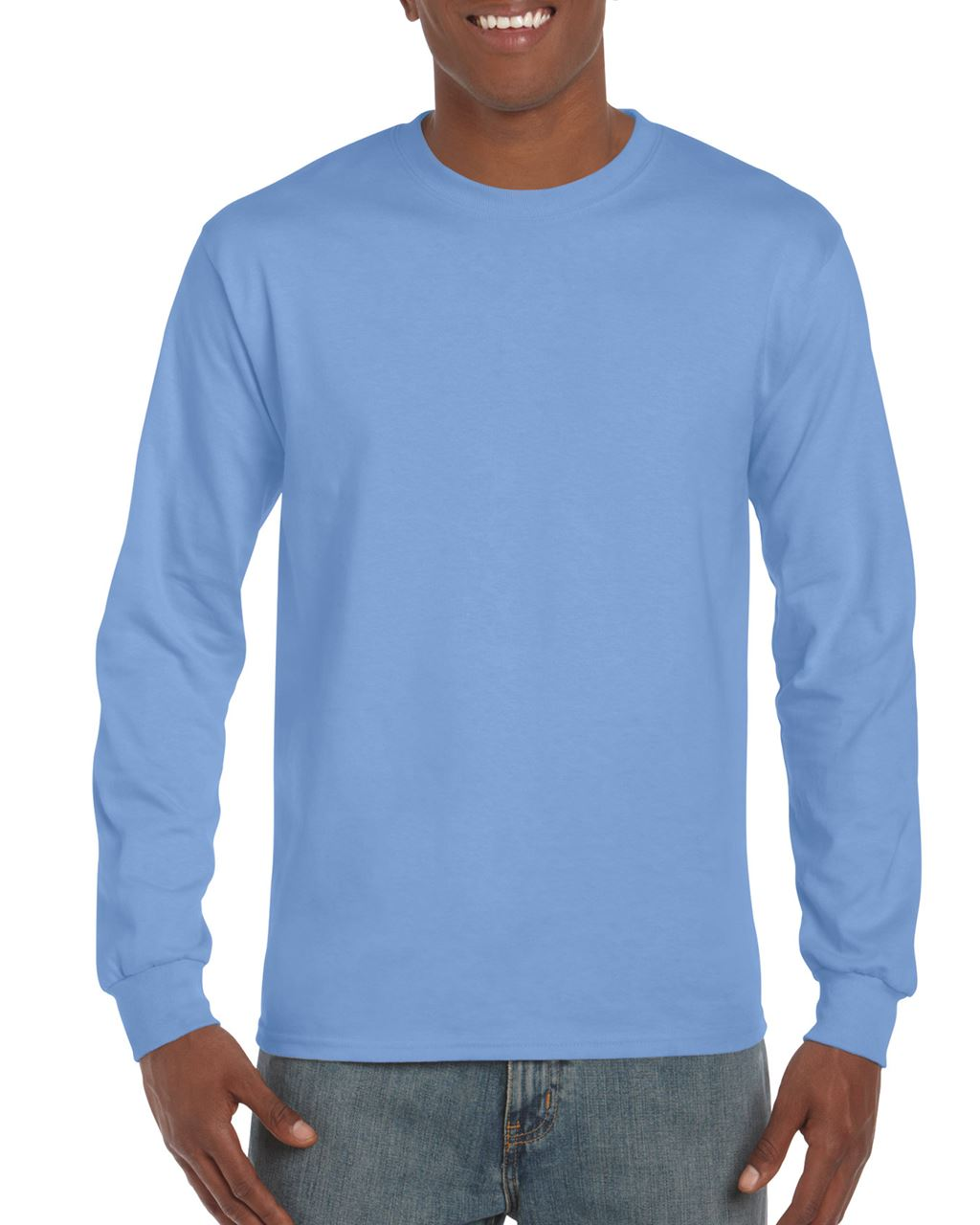 Levně Gildan Silnější triko s dlouhými rukávy ULTRA Barva: Carolina Blue, Velikost: 3XL