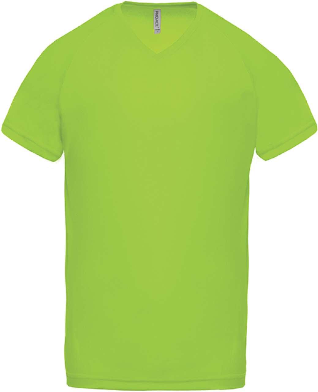 Levně Pánské funkční tričko do V Proact Velikost: M, Barva: limetková