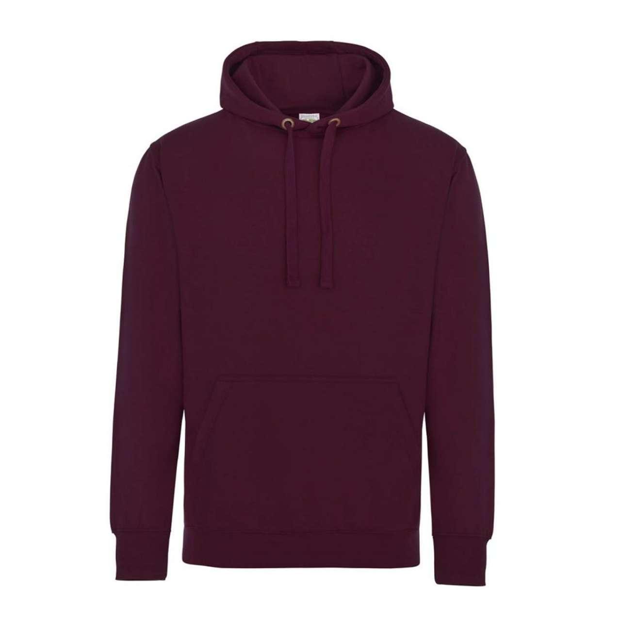 Levně Unisex kvalitní mikina Just Hoods Velikost: S, Barva: supa burgundská vínová