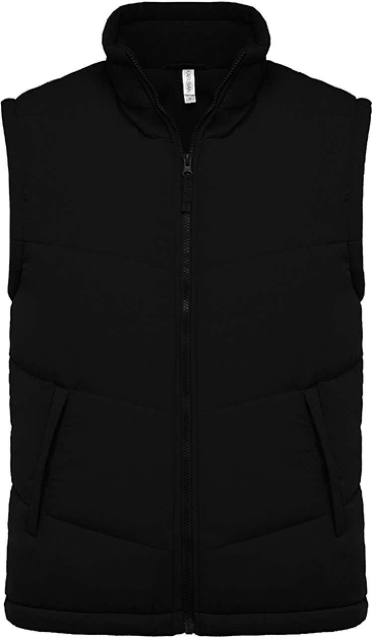 Levně Unisex zateplená vesta Kariban – černá, vel. S
