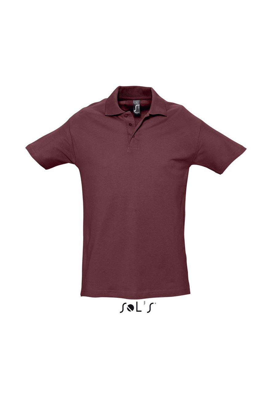Levně SOL'S Pánská bavlněná polokošile SPRING Barva: Burgundy, Velikost: XL