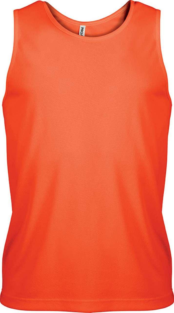 Levně Proact Pánský sportovní dres bez rukávů SPORTS Barva: Fluorescent Orange, Velikost: 2XL