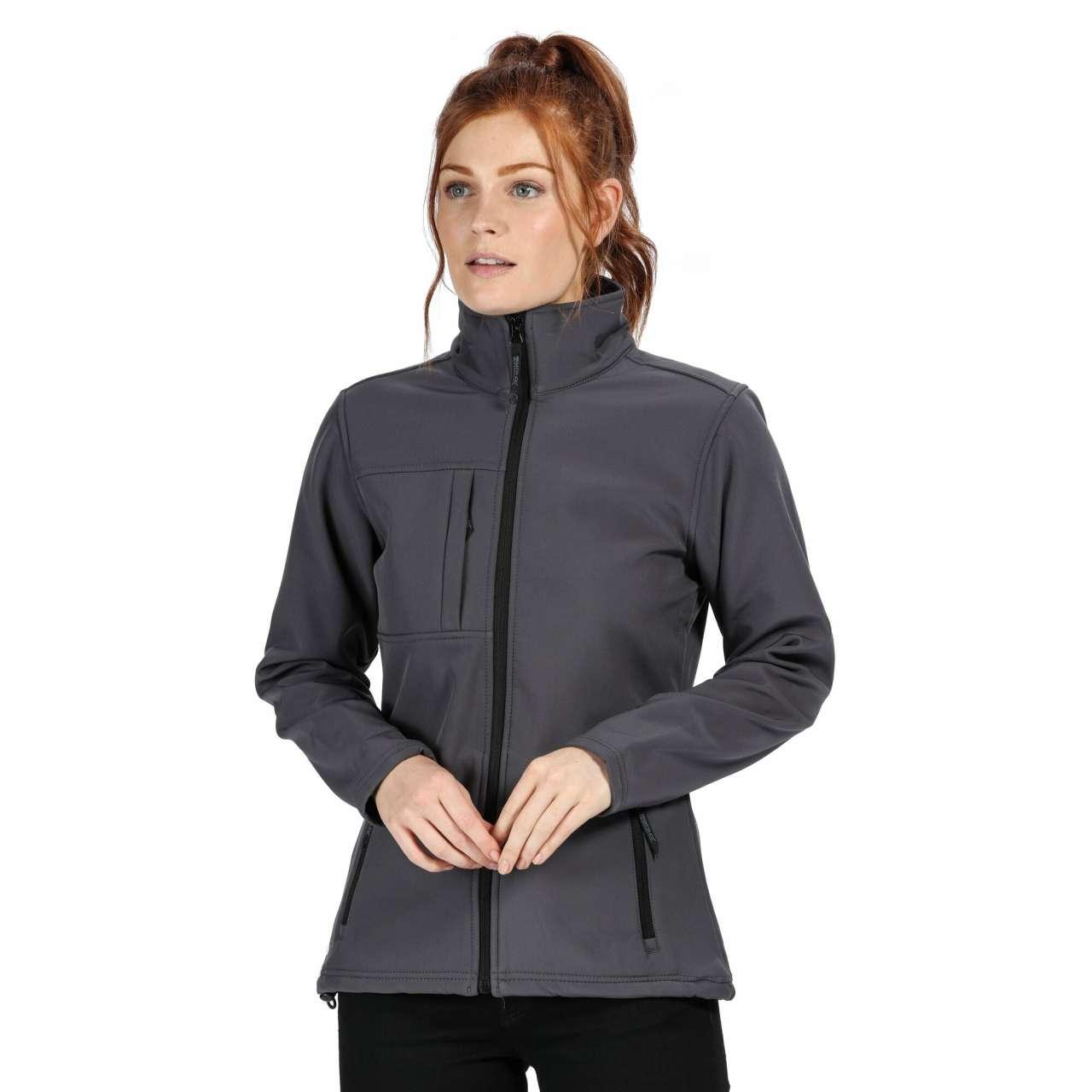 Levně Dámská softshellová bunda Regatta – tulenní šedá / černá, vel. L