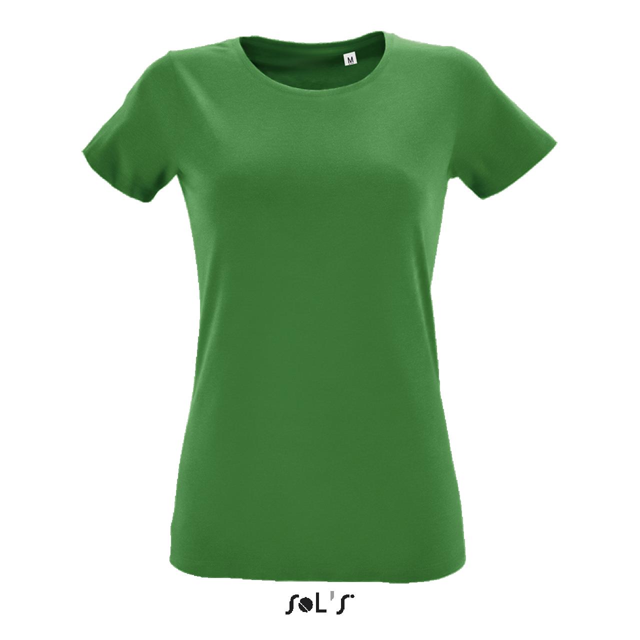 Levně SOL'S Dámské bavlněné tričko REGENT FIT Velikost: M, Barva: Kelly zelená