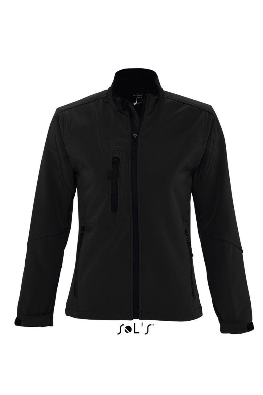 Levně SOL'S Dámská softshellová bunda ROXY Velikost: M, Barva: černá