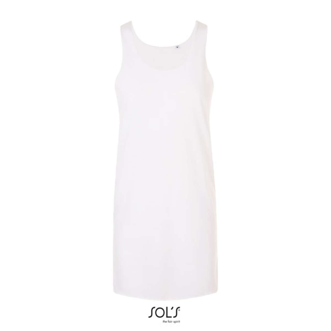 Levně SOL'S Dámské letní šaty COCKTAIL Barva: White, Velikost: 0