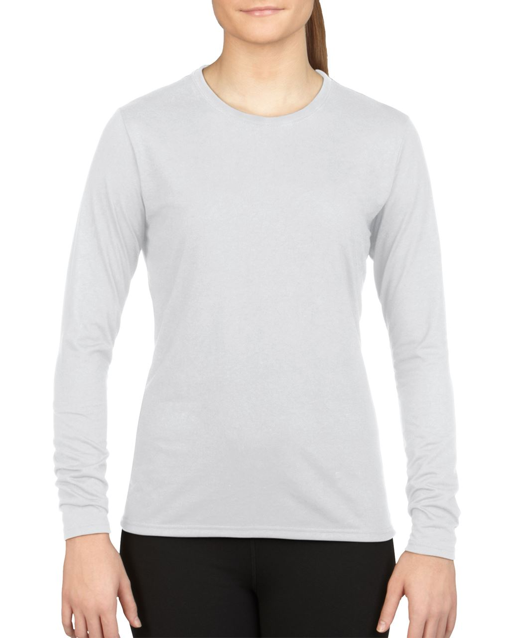 Levně Dámské funkční tričko s dlouhými rukávy PERFORMANCE – bílá, vel. XL