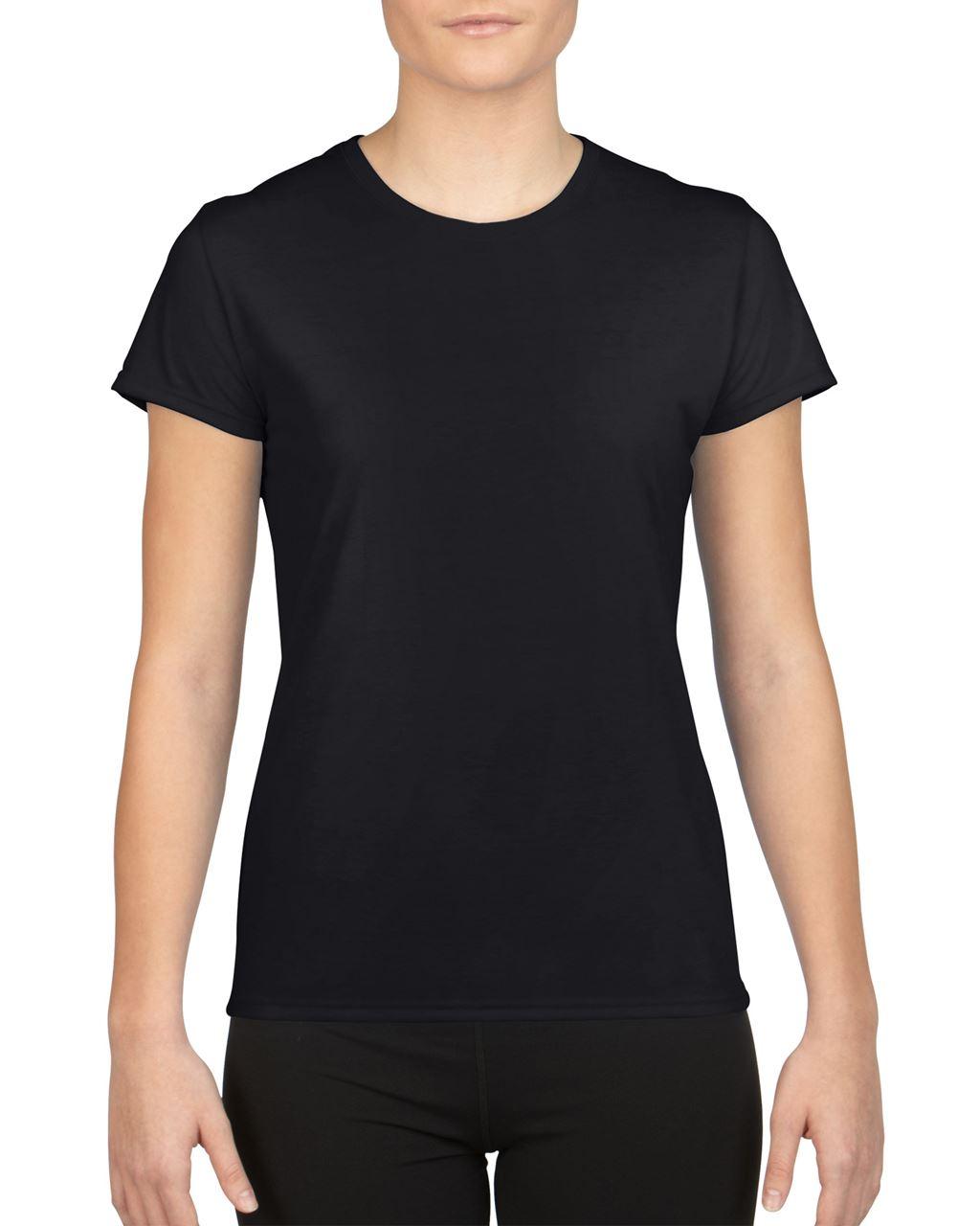 Levně Gildan Dámské funkční tričko PERFORMANCE Velikost: L, Barva: černá