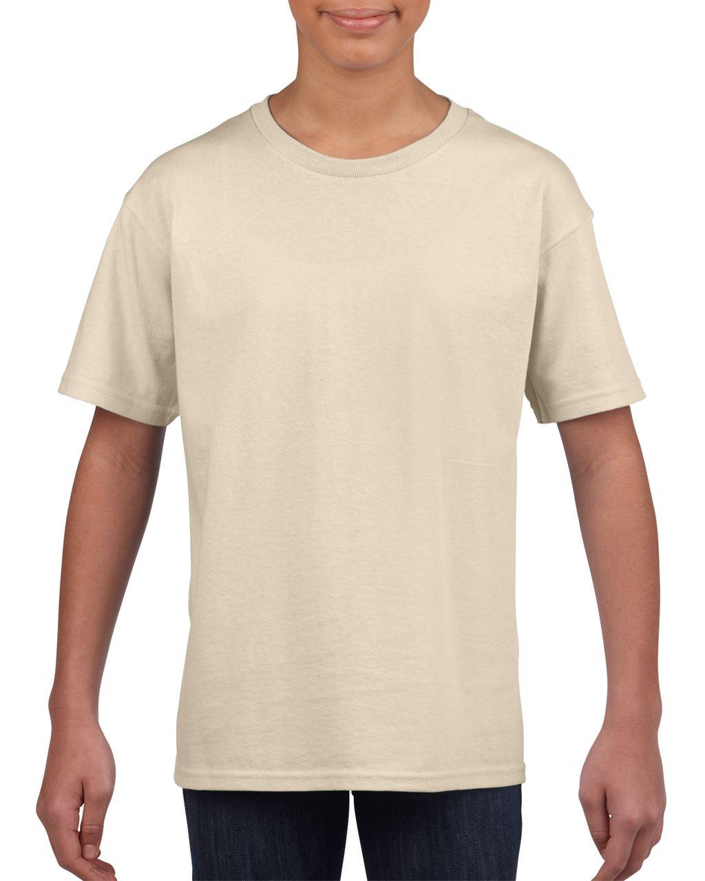 Levně Gildan Dětské bavlněné tričko SOFTSTYLE Barva: Sand, Velikost: M